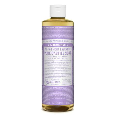 Dr. Bronner's Lavender Pure-Castile Liquid Soap - 16