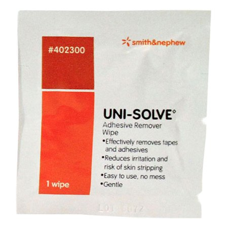 Uni-Solve Adhesive Remover Wipes - Box of 50 - Pack of 4