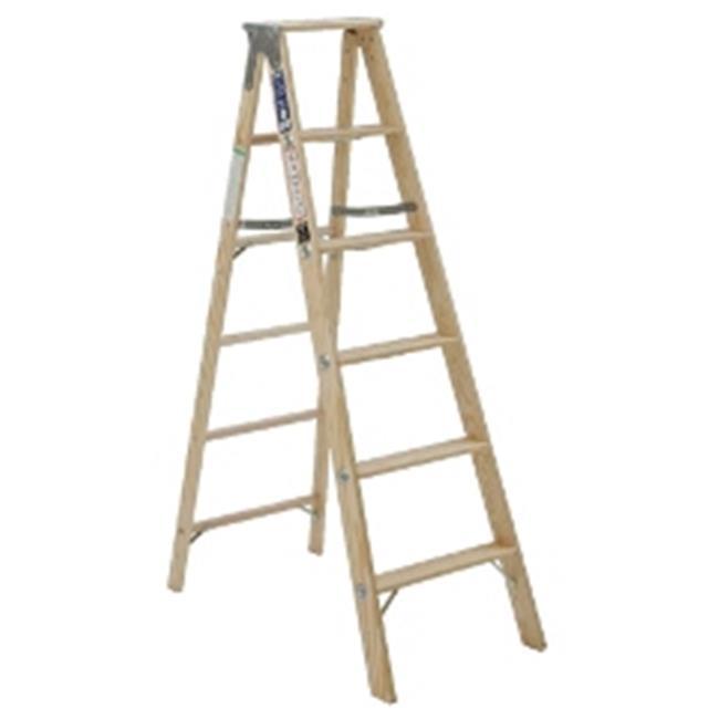 Michigan Ladder 131105 5 Ft Michigan Stocky Wood Step Ladder Walmart Com