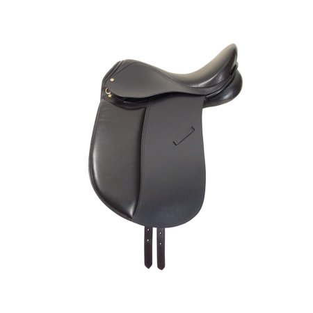 Dressage Womens Saddle (Paris Tack  English Dressage Saddle Closeout - Black - 17