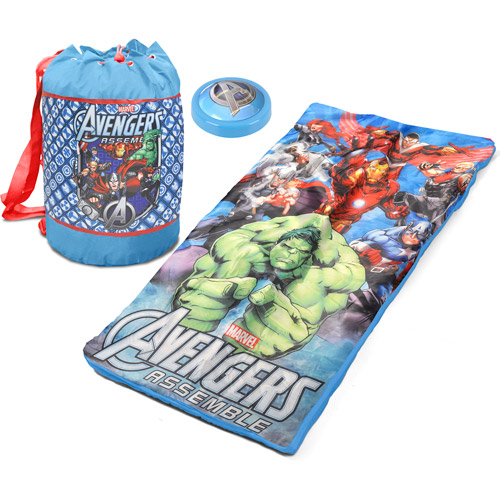 Avengers Sleeping Bag Pushlight and Duffle