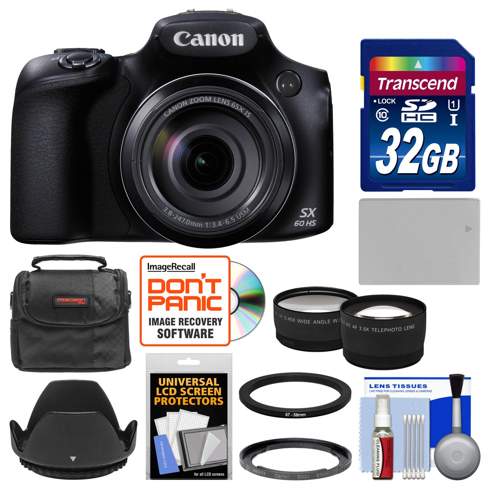 canon powershot sx60 hs wi fi digital camera with 32gb