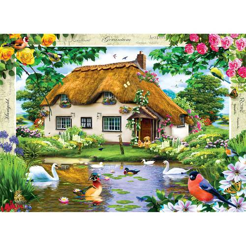 MasterPieces Swan Cottage 1000 Piece Puzzle by MasterPieces