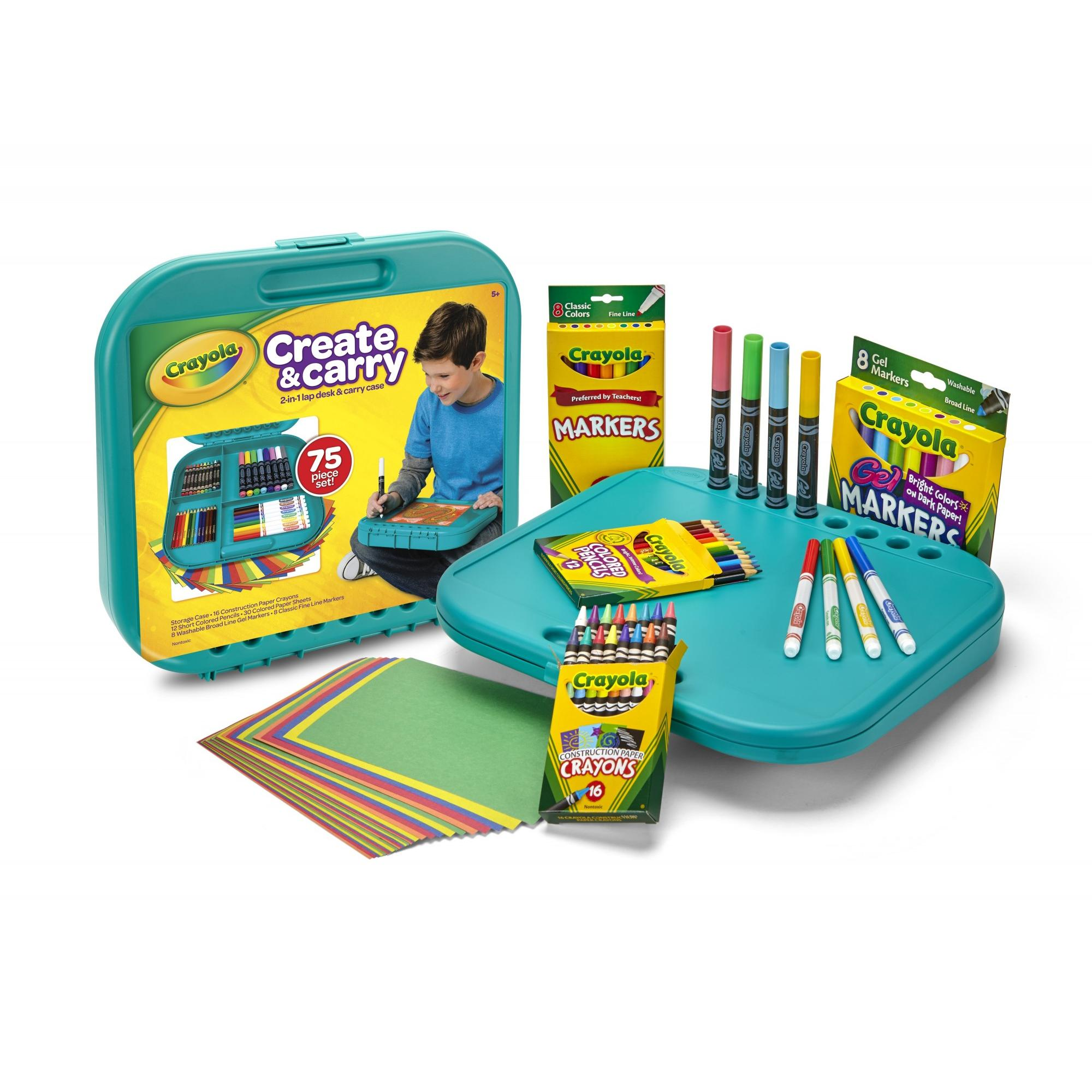 Crayola Create And Carry Storage Case And Lap Desk 2-N-1