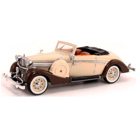1937 Maybach Sw38 Spohn Convertible Coupe  Tan   Brown   Signature Models 43705   1 43 Scale Diecast Model Toy Car