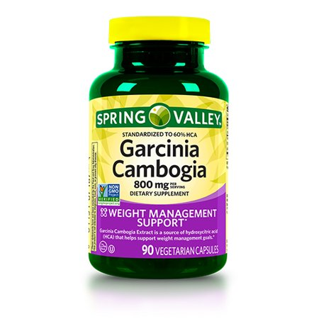 Spring Valley Garcinia Cambogia Weight Loss Supplement, 800 mg, 90 Capsules Clinically Proven Weight Loss