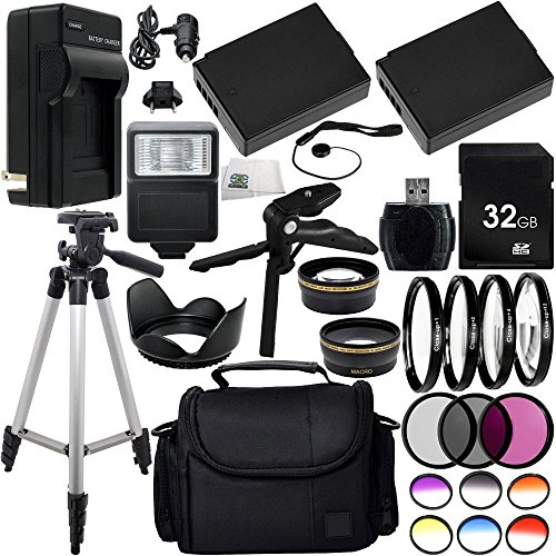 Ultimate 58mm Lens 28PC Accessory Kit for Canon EOS Rebel T3 T5 T6 1100D 1200D 1300D DSLR Cameras Includes Wide Angle & Telephoto Lenses + 3PC Filter Kit + 4PC Macro Filter Kit + MUCH MORE