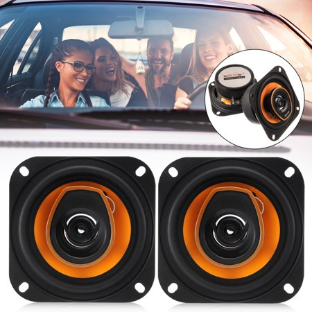 "2 Sets of New loudspeaker MECO GX-481 4"" 250W 2 Way Car Audio Coaxial Speakers Stereo Pair -Black"