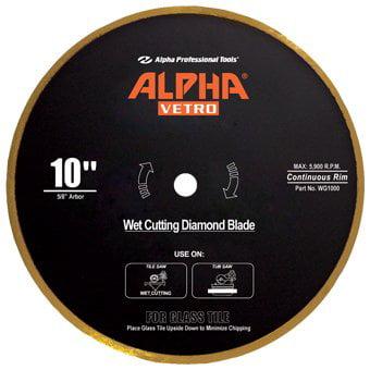 4 3 8  Vetro Blade  4 3 8  Blade   7 8   20Mm Arbor  High Quality Wet Glass Cutting Blades  By Alpha Vetro