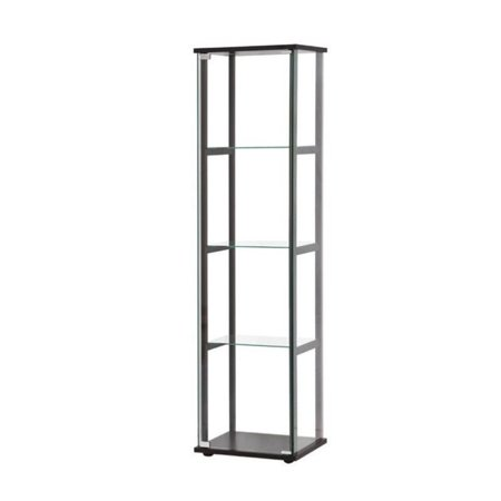 Bowery Hill Contemporary Glass Curio Cabinet in