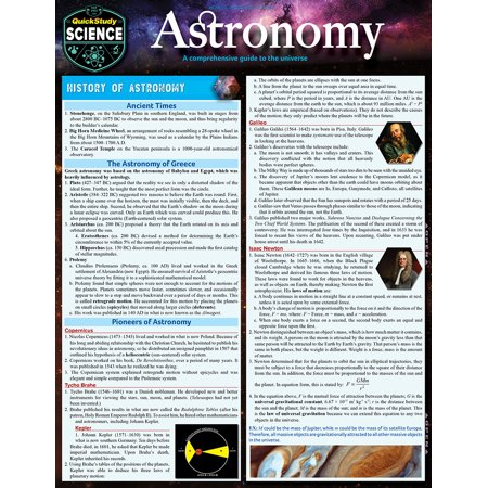 Astronomy : QuickStudy Laminated Reference Guide to Space, Our Solar System, Planets and the