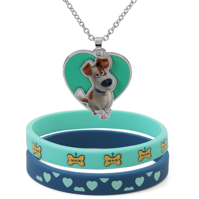 Secret Life of Pets Round Pendant and Bracelet Set