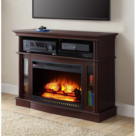 better homes gardens ashwood road media fireplace console television stand for tvs up to 45. Black Bedroom Furniture Sets. Home Design Ideas