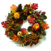 Glitter Mixed Pumpkins Harvest Wreath