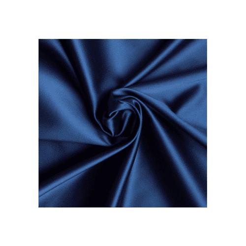 Navy Blue Stretch Satin, Fabric By the Yard