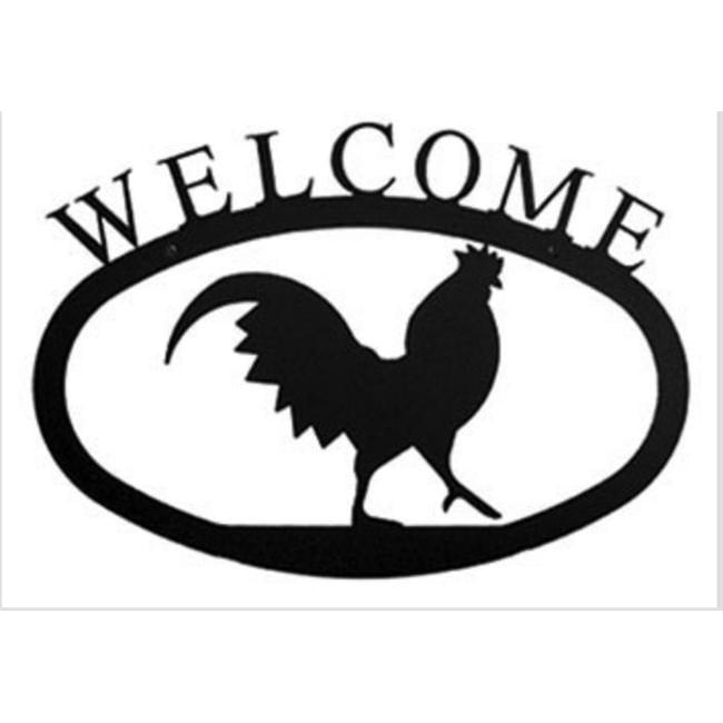 Village Wrought Iron WEL-1-L Grand signe de bienvenue coq LG - image 1 de 1