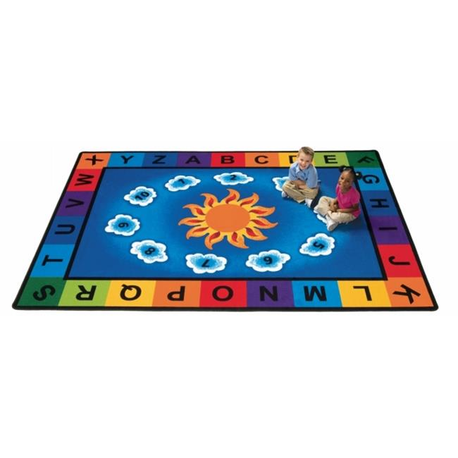 Carpets For Kids 9401 Sunny Day Learn & Play 4.42 ft. x 5.83 ft. Rectangle Carpet