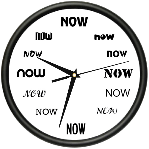 ITu0027S NOW TIME Wall Clock Funny Office Late Person Procrastinate Gift
