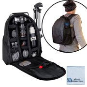 Deluxe Camera/Video Padded Backpack for SLR / DSLR Cameras with eCostConnection Microfiber Cloth