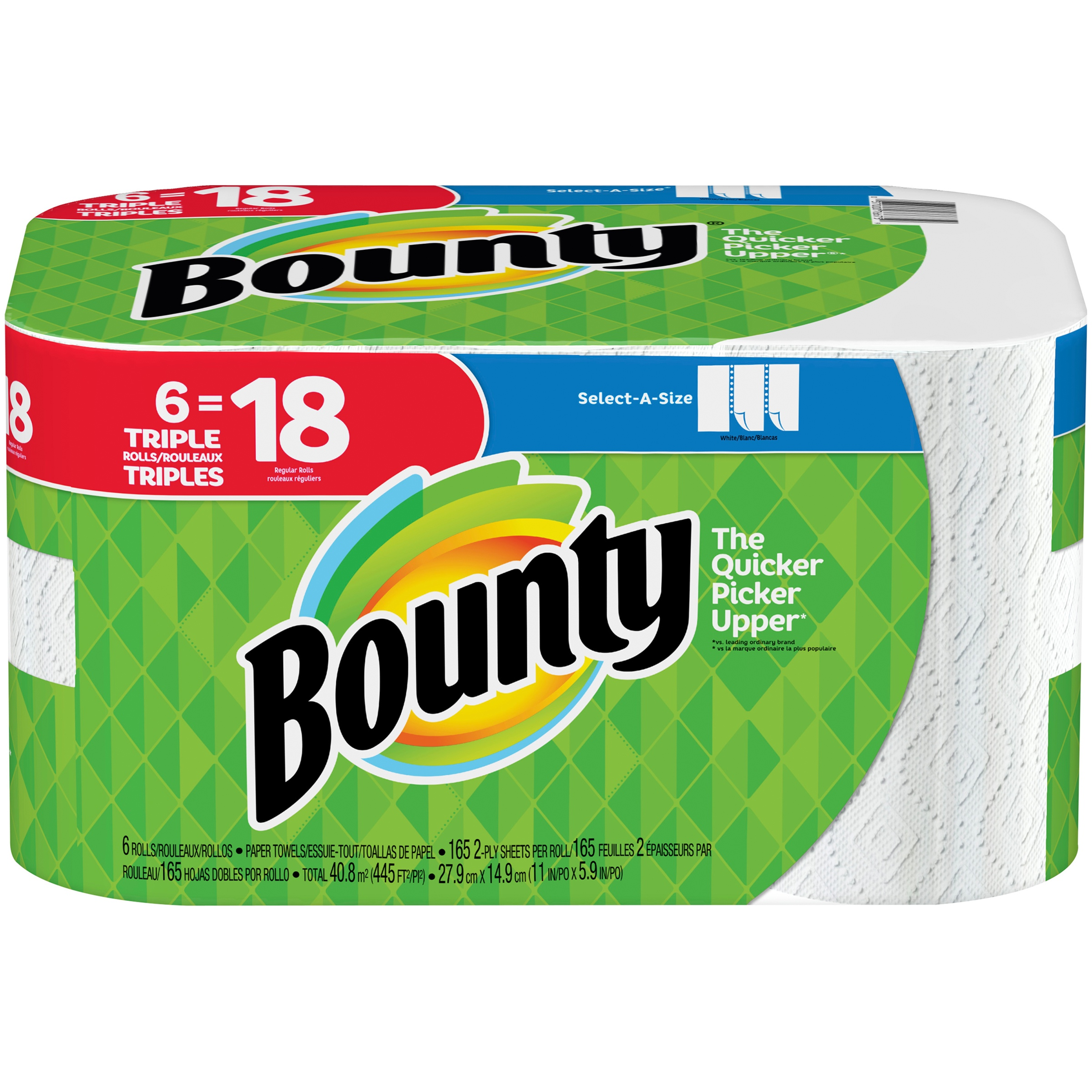 Bounty Paper Towels, Select-A-Size, 6 Triple Rolls