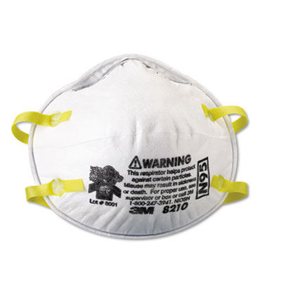 Lightweight Particulate Respirator 8210, N95, 20 Box, Sold as 1 Box, 20 Each per Box by
