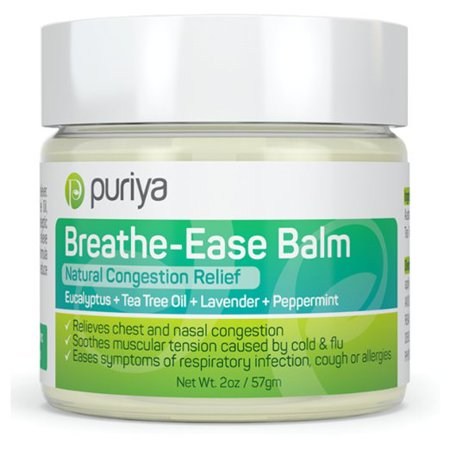 Puriya Natural Chest and Nasal Congestion Relief. Soothes Sore Throat, Dry Cough, Stuffy Nose & Sinus