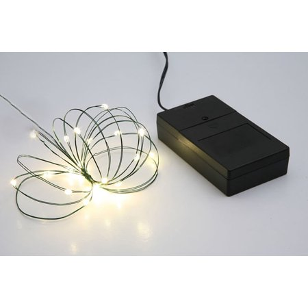 B/O Multi Function Ultra Slim Wire Christmas Light Set - 24 Clear ...