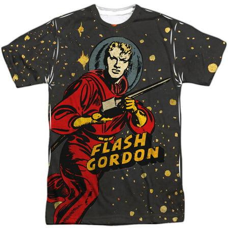 Flash Gordon Men's  Blast Off  Sublimation T-shirt White ()