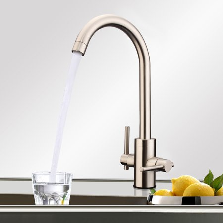 Modern Kitchen Sink Tap Single/Twin Lever Swivel Spout Mono Basin Mixer Faucet