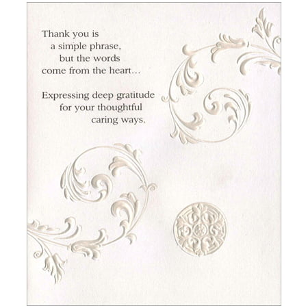 Freedom Greetings Embossed Vines Thank You - No Thanks Halloween Vine