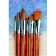 Best Acrylic Paint Brushes - Sax Copper Acrylic Long Wood Handle Paint Brush Review