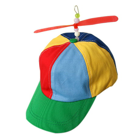 Outtop Propeller Cap Hat Helicopter Rainbow Tweedle Pride Party Kuso Fancy Dress Nerd