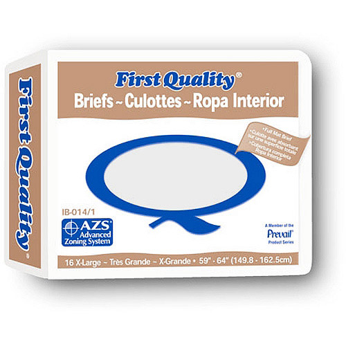 First Quality Full Fit Adult Brief, Extra Large 16ct per Package