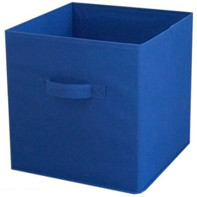 "Square Storage Cube, 10.5"" x 10.5"" x 11"", 1pk, Royal"