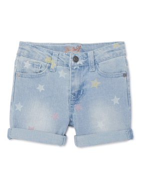 Vigoss Girls Star Print Rolled Cuff Denim Jean Shorts, Sizes 4-14