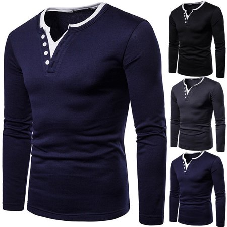 Mens Classic V-neck Sweater - Fashion Mens Casual Long Sleeve Jumper Formal V Neck Sweater Shirt Tops Pullover