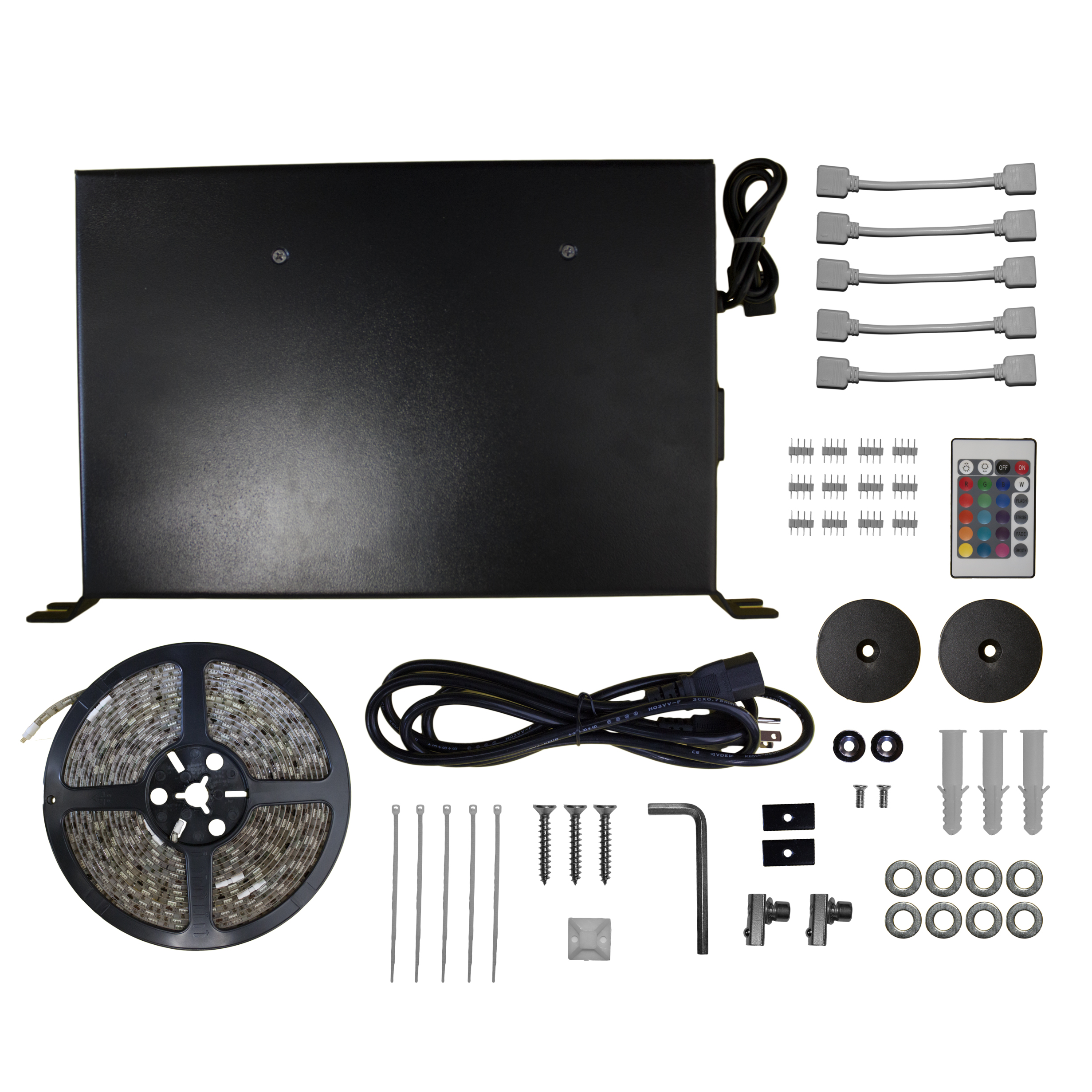 """EluneVision NanoEdge 120"""" 1.2-16:9 Fixed-Frame Projector Screen With LED Kit - image 1 of 5"""