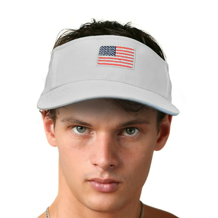 KC Caps Unisex Cotton Twill Adjustable USA Flag Embroidered - Usa Embroidered Caps
