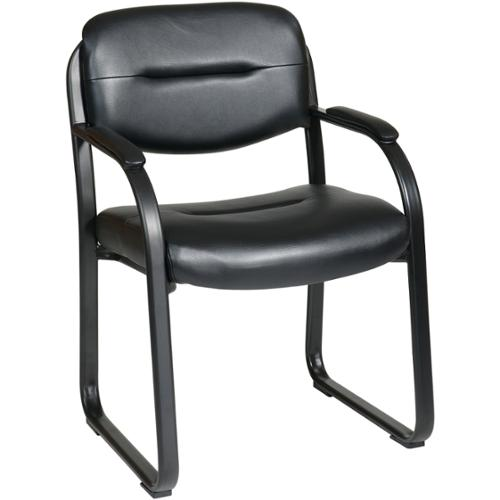Office Star Products 'Work Smart' Faux Leather Contour Seat and Back Visitor's Chair