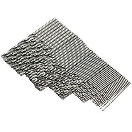50 Pcs HSS High Speed Steel Building Drill Bit Set Tool 1/1.5/2/2.5/3mm