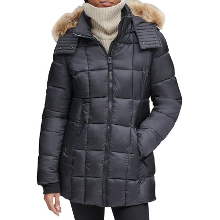 Riverdale Faux Fur Hooded Quilted Puffer Coat
