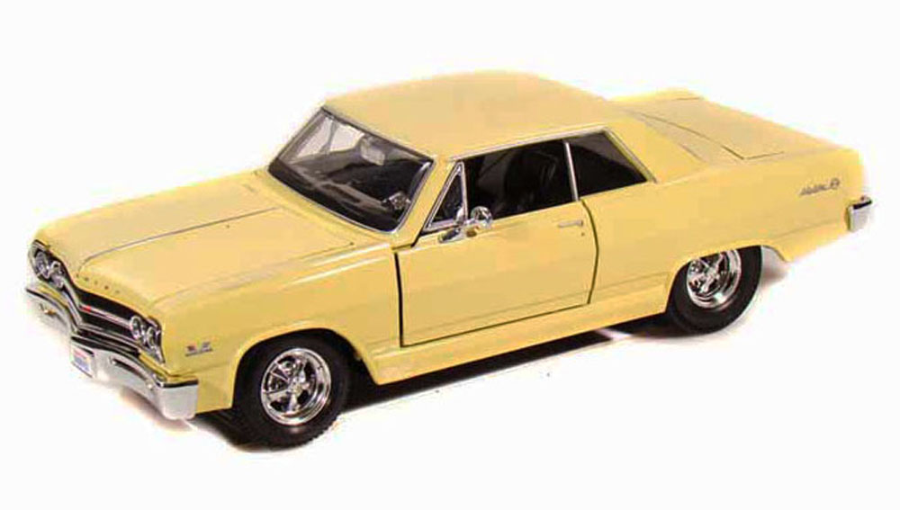 1965 Chevy Malibu SS, Yellow Maisto 31258 1 24 Scale Diecast Model Toy Car by Maisto