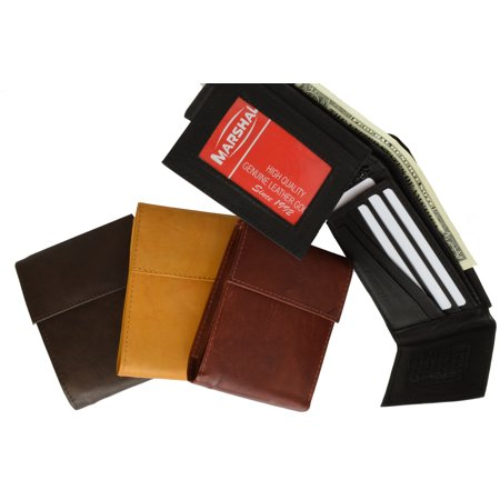 Leather Bifold Wallet with Velcro Closure and Flap up Id Window 2033 CF (C) ()