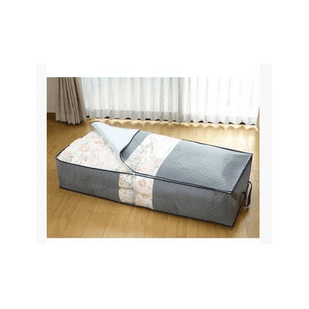 Portable Gray  Under-bed Under The Bed Storage Bag Simplify Box Organizer with Clear Plastic Zippered Cover For Clothes Blankets Shoes item - image 4 of 6
