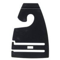 """Black Tie Hangers, Bag of 100, 2 7/8""""W By Retail Resource Ship from US"""