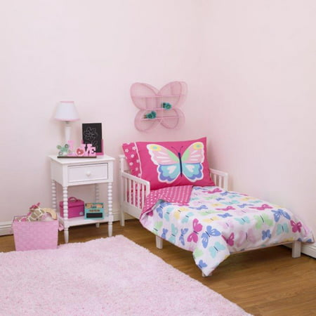 Butterflies 4-Piece Toddler Bed Set by Carters