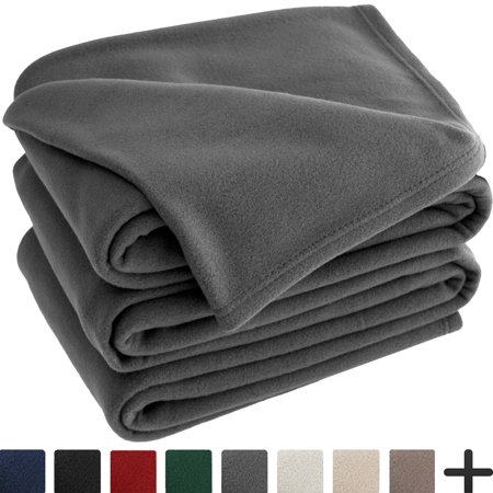 Polar Fleece Cozy Bed Blanket - Hypoallergenic Premium Poly-Fiber Yarns, Thermal, Lightweight Blanket (Full/Queen, (Brown Polar Phd Drivers)