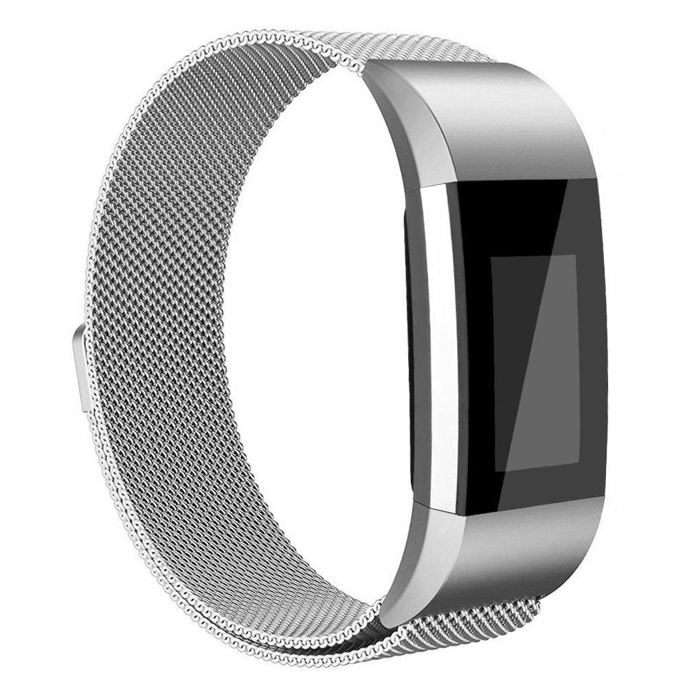 Fitbit Charge 2 Bands Band Replacement Accessories Small Large Mesh Stainless Steel Magnet