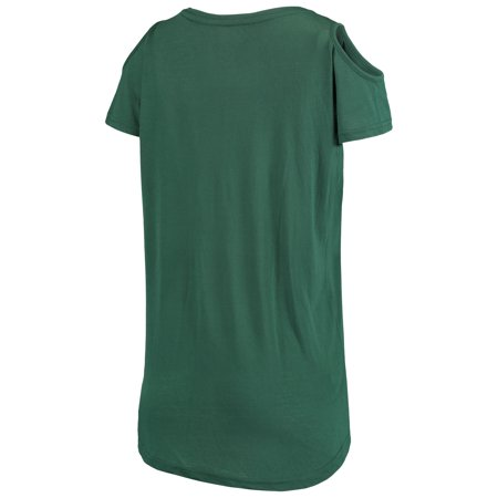 dad04d317 Green Bay Packers G-III 4Her by Carl Banks Women's Make the Cut Scoop Neck Cold  Shoulder T-Shirt - Green - Walmart.com