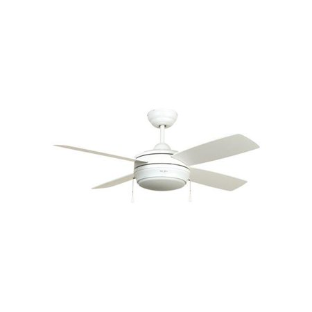 Ellington Laval 44 In. Matte White Tri-Mount Ceiling Fan With Frosted Disc Light Kit - 2479985